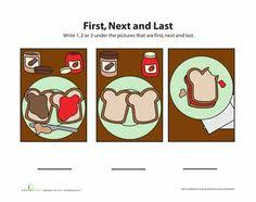 first next last 2 worksheets social skills and preschool