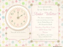 around the clock bridal shower clock bridal shower invitation special time floral pastel