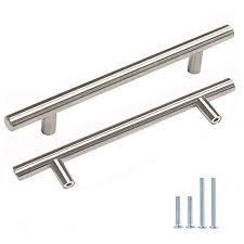 kitchen cabinet door handles walmart probrico 25 pack 5 inch t bar cabinet pulls stainless steel kitchen drawer handles brushed nickel drawer pulls