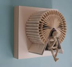 Book Paper Folding - the thinking s book sculptures