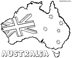 australia flag coloring page draw 10100