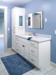 Bathroom Tall Cabinet by Double Bathroom Vanity With Attached Tall Cabinet Vanity U0026 Tall