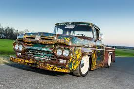frankenford 1960 ford f 100 with a caterpillar diesel engine swap
