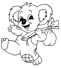 free printable koala coloring pages kids