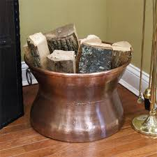hittite cauldron copper firewood holder with ring handles
