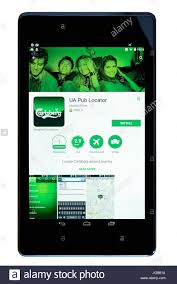 android locator ua pub locator app on an android tablet pc dorset uk stock