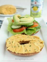 maple u2022spice garden vegetable almond cream cheese