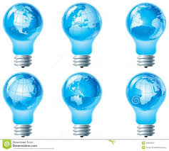 globe and electric bulb stock images image 28984954