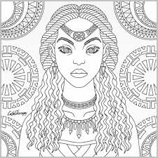 tribal queen coloring page color therapy app zentangles