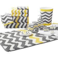 gray and yellow bathroom rug sets 390