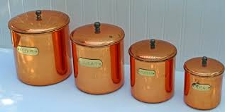 copper kitchen canister sets 28 images mid century copper