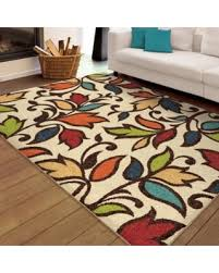 amazing deal orian rugs bright colors leaves dicarna ivory area rug