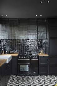 cabinet kitchens with black tiles best black wall tiles ideas