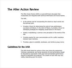 sample after action review template 7 documents in pdf word