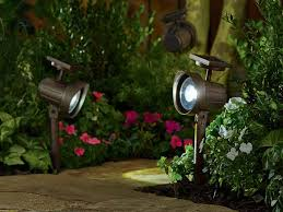 Solar Patio Lighting Solar Landscape Lighting In Copper Material On The Side Path Of