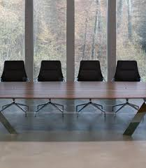 Marble Boardroom Table Modern Glass Steel Conference Table Ambience Doré