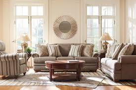 Lazboy Sofa Traditional Sofa With Comfort Core Cushions And Two Sizes Of