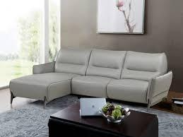 canape angle cuir relax electrique canapé d angle relax électrique en cuir gris kristen