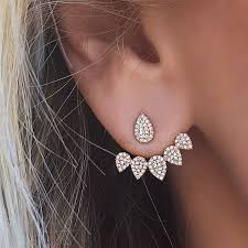 back earrings best 25 sided earrings ideas on earrings