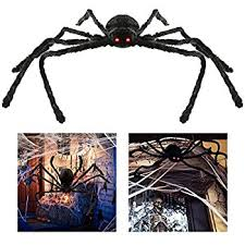 Scary Halloween Decorations Amazon by Amazon Com Bestomz Giant Halloween Spider 125cm With Led Eyes