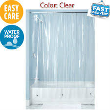 Extra Long Clear Shower Curtain Interdesign 14581 Vinyl Shower Curtain Liner Clear Extra Long 72 X