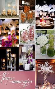 d coration mariage chetre idées centre de table mariage fleurs immergées plongées eau