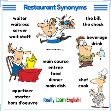 travel synonyms images Answers to common restaurant questions in english jpg
