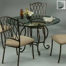 Glass Top Round Dining Tables by Shop Impacterra Atrium Tempered Glass Round Dining Table At Lowes Com