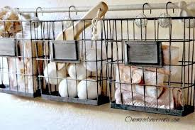 Baskets Bathroom Ideas For Using Industrial Wire Basket In The Home Hometalk