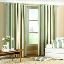 4 kinds of green striped curtains