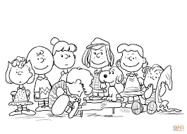 peanuts characters coloring page free printable coloring pages