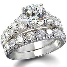 wedding rings set s fancy faux cz wedding ring set jewelry box