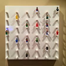 Ikea Lack Side Table by Hacked Ikea Lack Side Table Into Lego Minifigure Display Wall Art