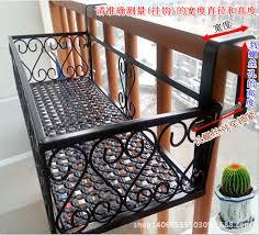 iron balcony railings flower outdoor wall hanging flower bonsai