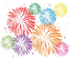 sparklers clipart transparent background pencil and in color