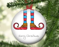 elf christmas ornament elf legs ornament personalized ornament