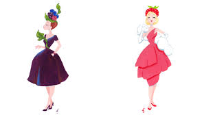 strawberry margarita cartoon audra esch cocktail dresses