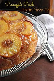 pineapple peach upside downcake brown sugar