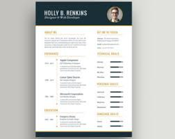Best Resume Format Word Document by Resume Template Word Etsy