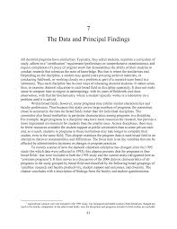 7 the data and principal findings a data based assessment of