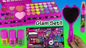 pink fizz mega glam set starry nights lip gloss blush eyeshadow