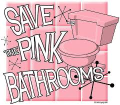 69 best decorating pink bathroom images on pinterest retro