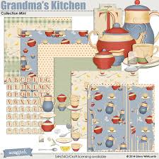 kitchen collections store digital scrapbooking kit s kitchen collection mini by