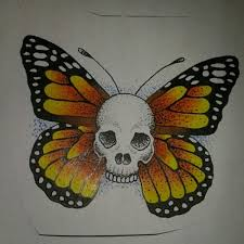 meme hermetica spink ink sailor jerry inspired skull butterfly