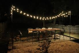 Decorative Patio String Lights Diy String Light Patio House Elizabeth Burns Design