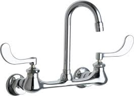 wall mount faucets kitchen chicago faucets 631 abcp 2 2 gpm double handle wall mounted