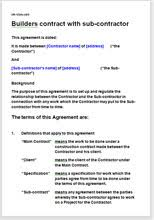 builder terms and conditions template contract for services