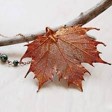 real leaf necklace images Enchanted leaves large fallen copper maple leaf jpg