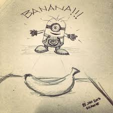 pencil drawing banana minion singapore web designer website