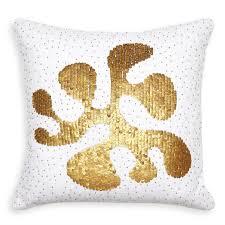talitha amoeba gold throw pillow 16 x 16 jonathan adler